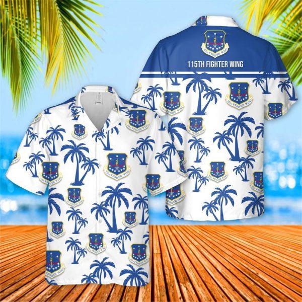USAF Wisconsin Air National Guard 115th Fighter Wing Hawaiian Shirt