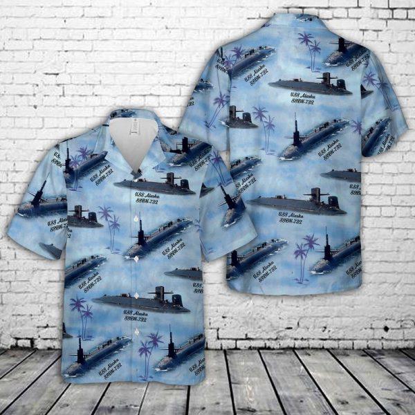 USS Alaska Ballistic Missile Submarine Hawaiian Shirt