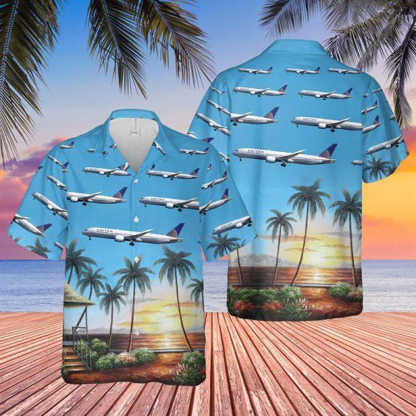 United Airlines Boeing 787 9 Dreamliner Hawaiian Shirt