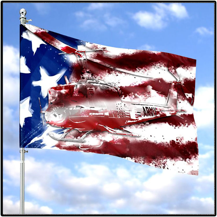 United States Army Huey Horizontal Flag 1