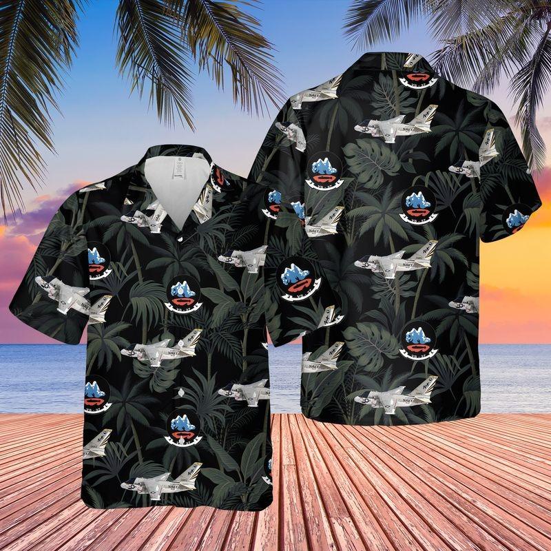 Us Navy Lockheed S 3 Viking Of Vs 37 Hawaiian Shirt