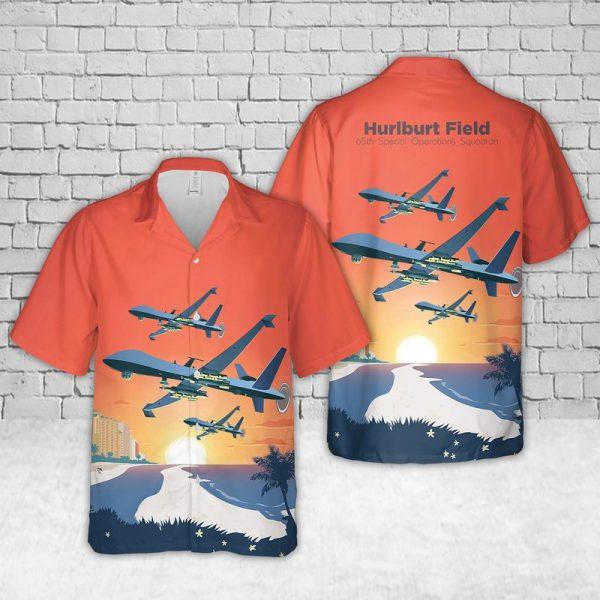 Usaf Hurlburt Field 65th Special Operations Squadron Hawaiian Shirt