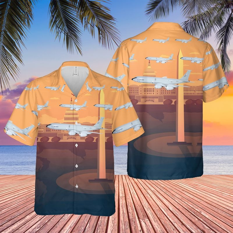 Usaf Washington Air National Guard 116th Air Refueling Squadron Hawaiian Shirt
