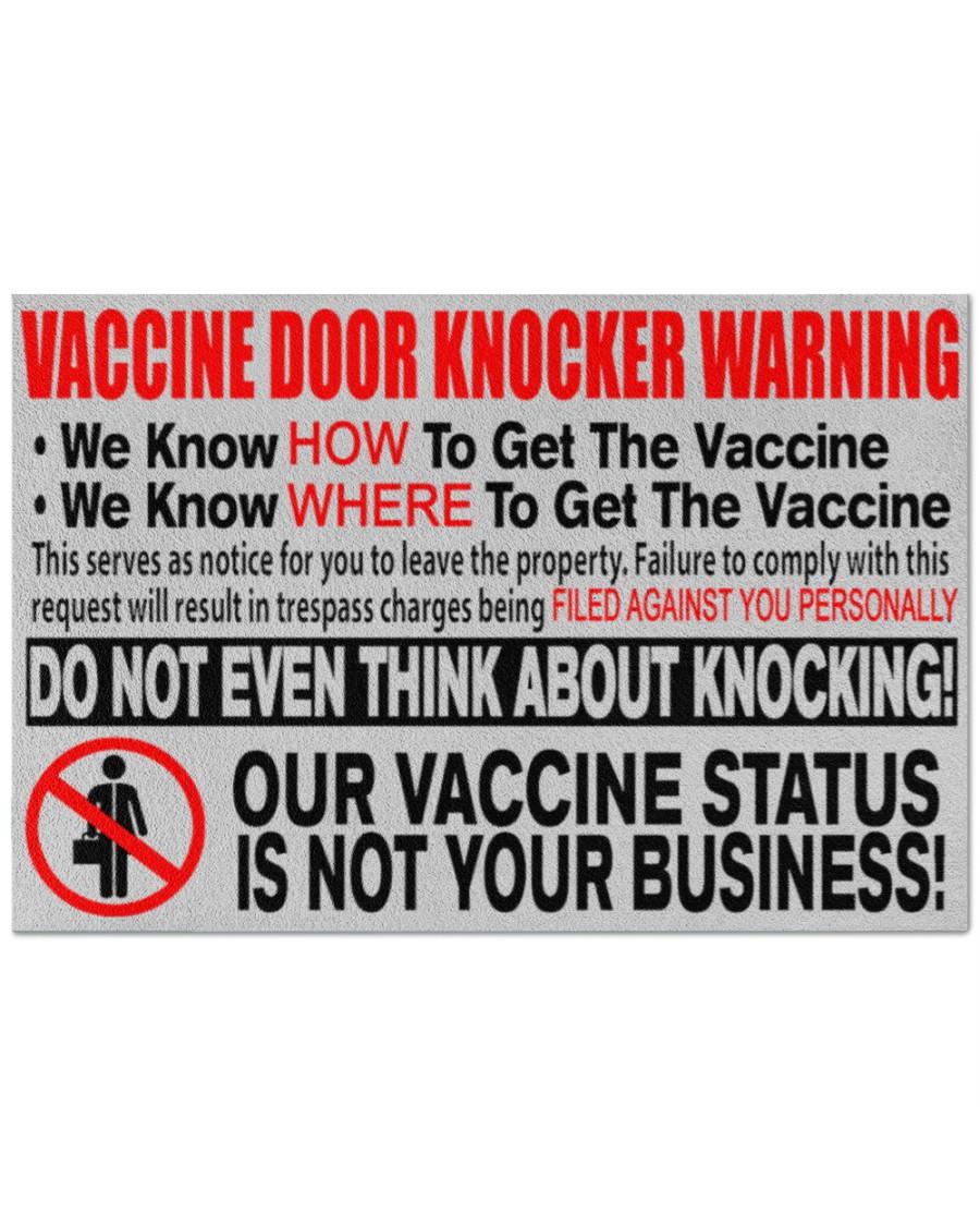 Vaccine door knocker warning we know how to get the vaccine doormat 1