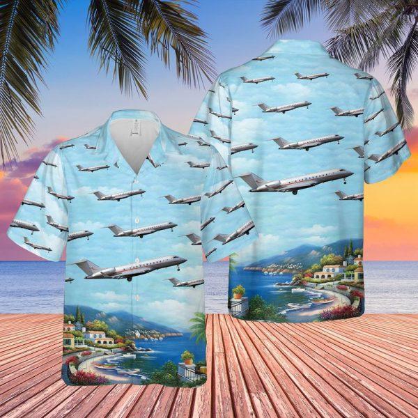 VistaJet Bombardier BD 700 1A11 Global 5000 Hawaiian Shirt