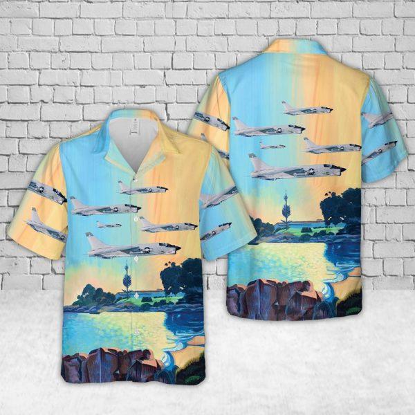 Vought F8 Crusader Hawaiian Shirt