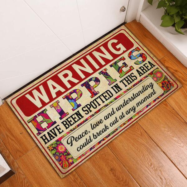 Warning Hoppies Have Been Spotted In This Area Doormat1