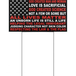 We Believe God Created Man And Woman Yard Signs