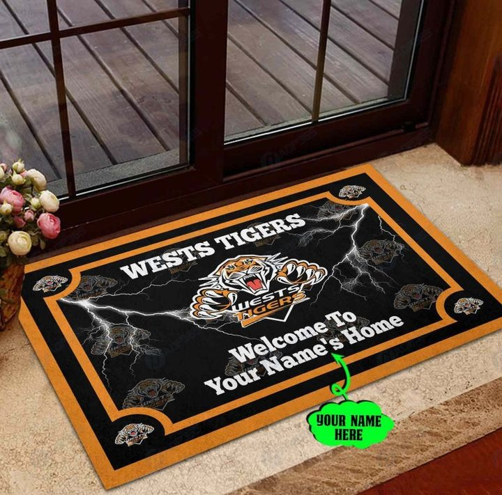 Wests Tigers Personalized welcome to home Doormat