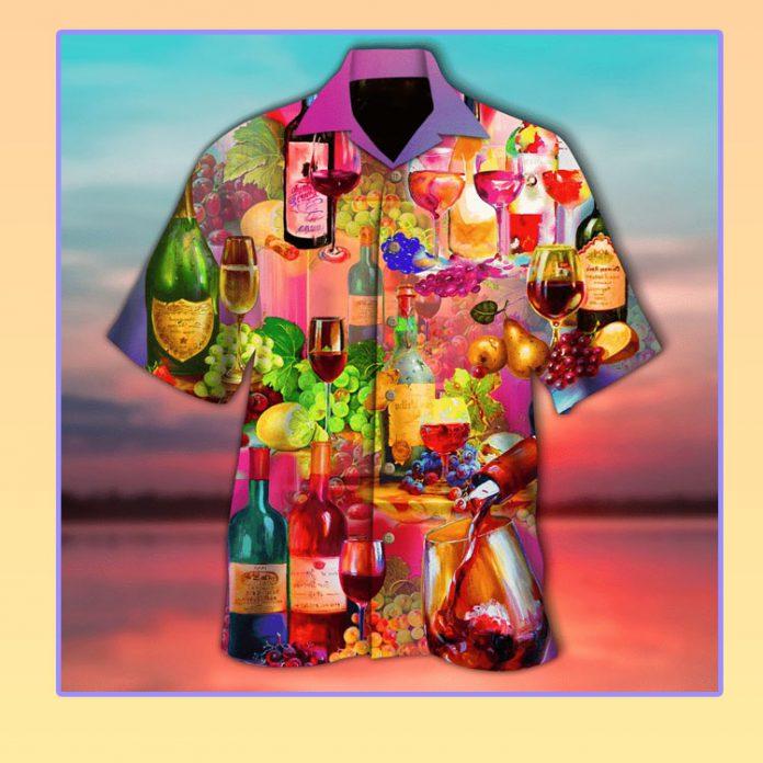 Wine tonight hawaiian shirt