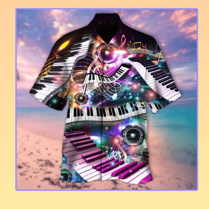 Neon piano soul hawaiian shirt