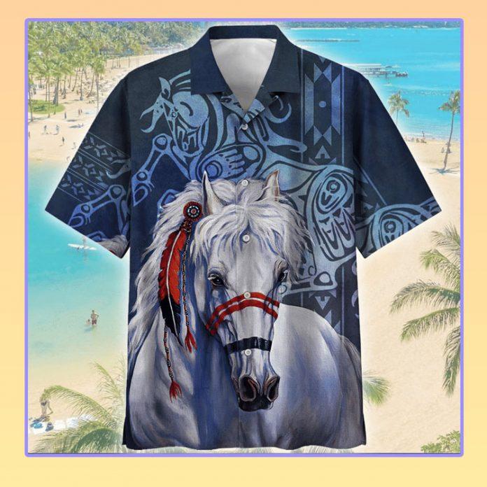 Indigenous horse hawaiian shirt