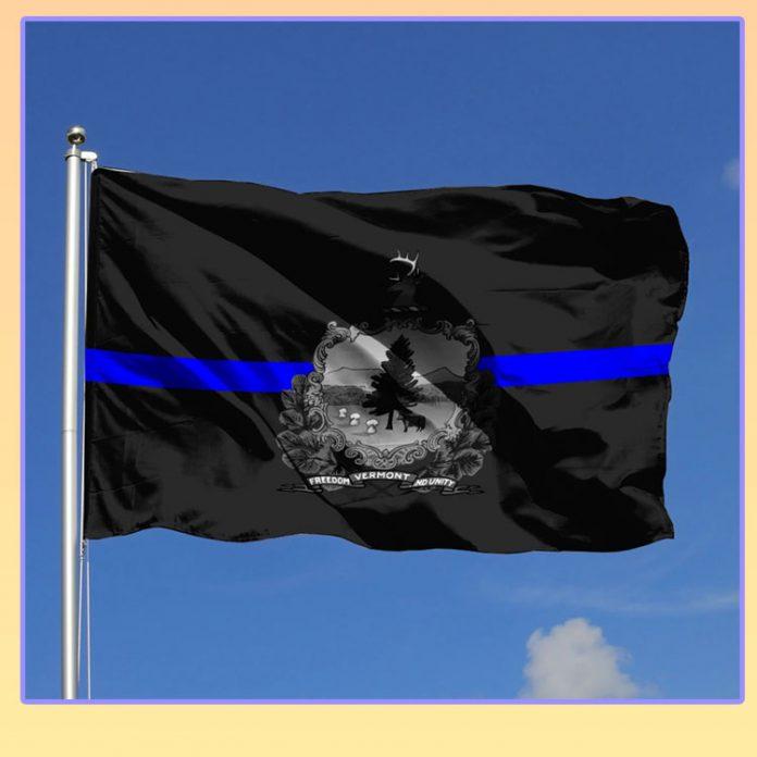 Vermont police status flag