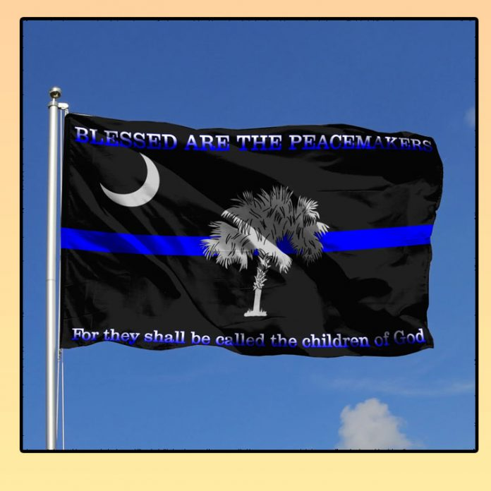 South carolina police blessed are the peacemakers flag