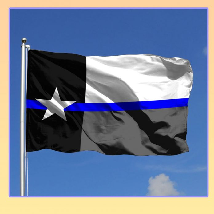 Texas police state flag