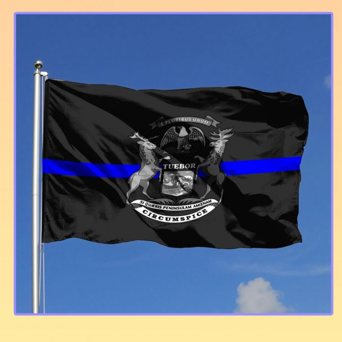 Michigan police state flag