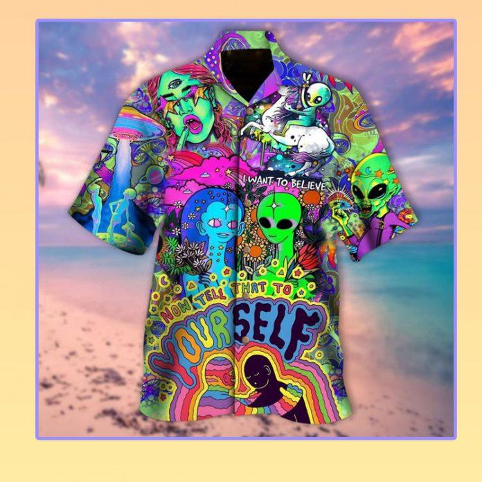 Space out hippie vibe hawaiian shirt
