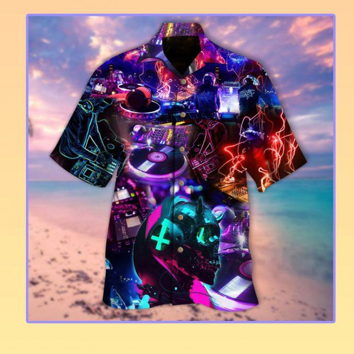 DJ is not for free neon hawaiian shirt