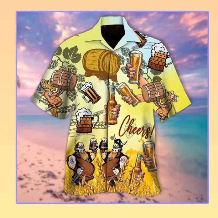Viking beer cheer hawaiian shirt