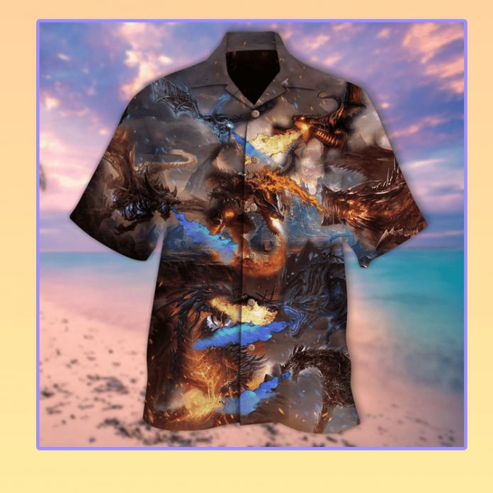 The dragon kingdom war hawaiian shirt