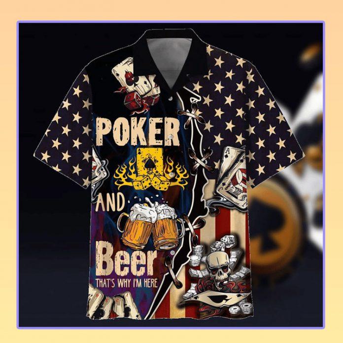 Poker player hawaiian shirt