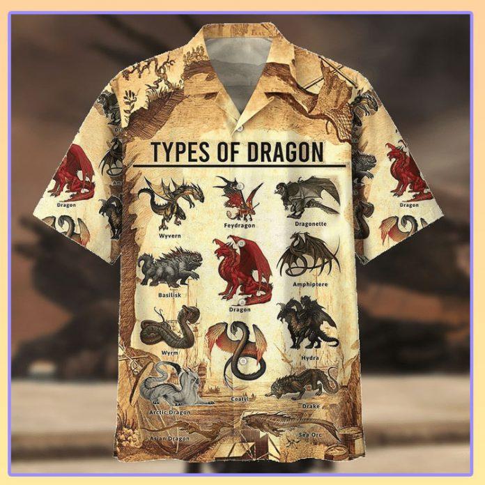 Types of dragon hawaiian shirt
