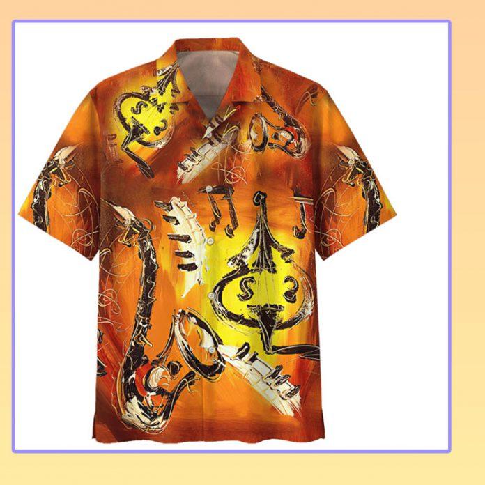 Saxophone hawaiian shirt