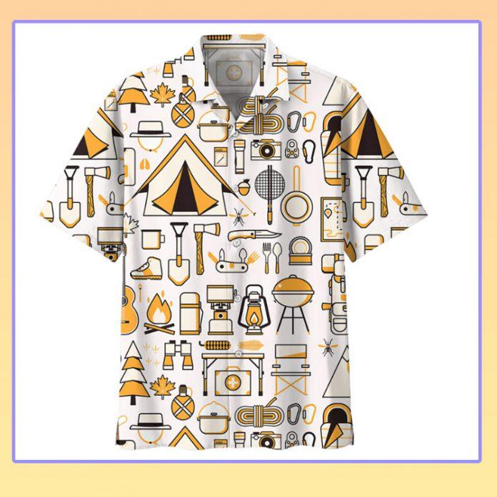Camping hawaiian shirt