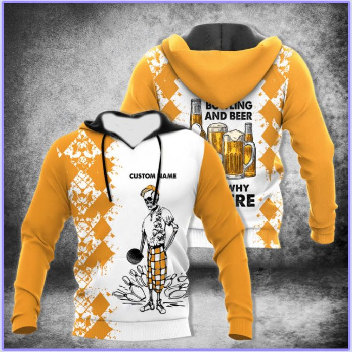Personalized name bowling and beer thats why Im here D hoodie