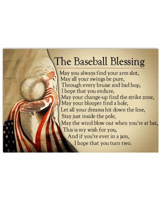 The baseball blessing may you always find your arm slot poster as
