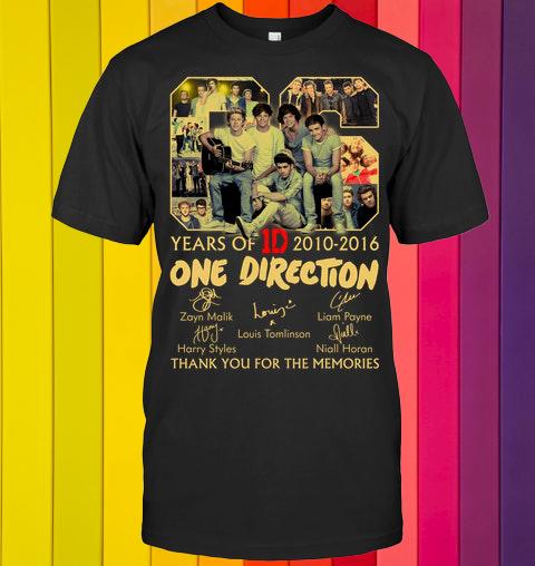 YearsOfOneDirectionDshirt