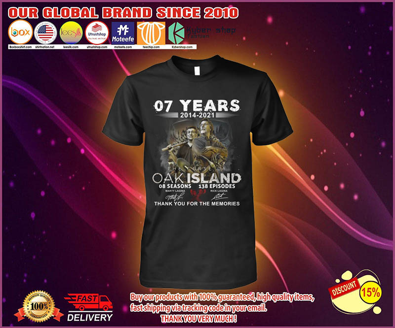 07 years 2014 2021 OAK island 08 seasons thank you for memories shirt 4
