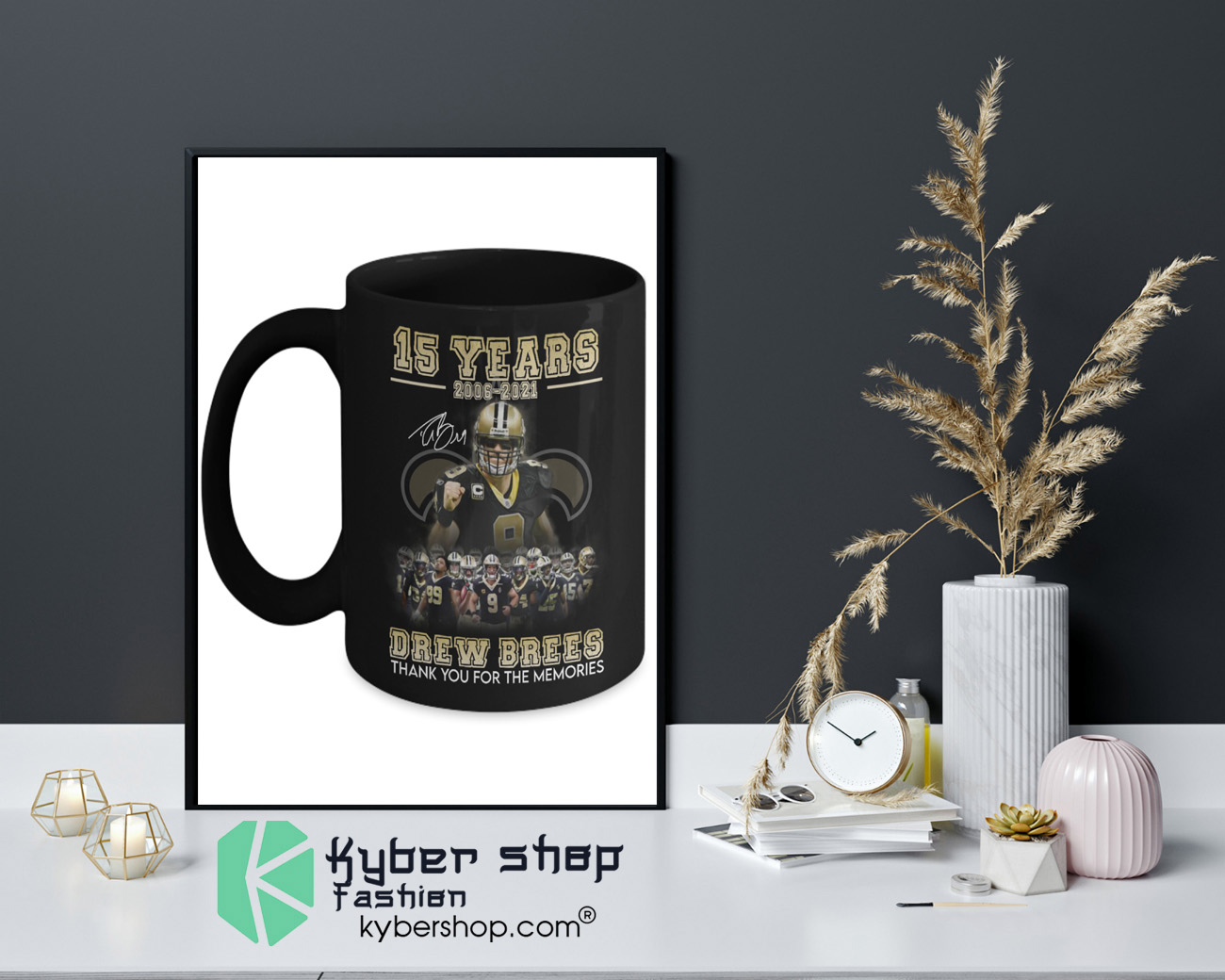 15 years 2006 2021 drew brees thank you for the memories mug 4