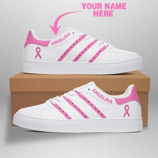 Breast Cancel Awareness custom name stan smith shoes