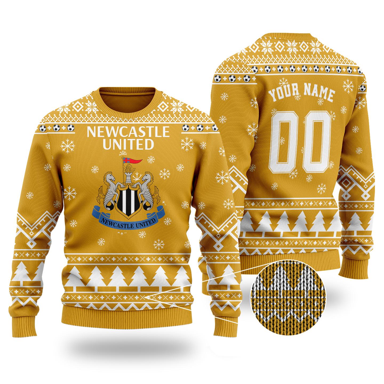 Newcastle United custom ugly Christmas sweater