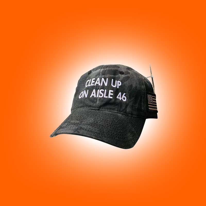 CleanUp On Aisle 46 hat and shirt