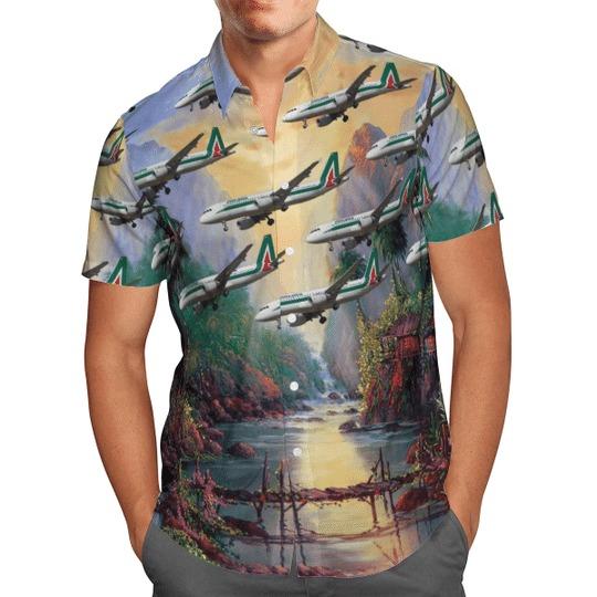 Alitalia airbus A320 200 hawaiian shirt 2