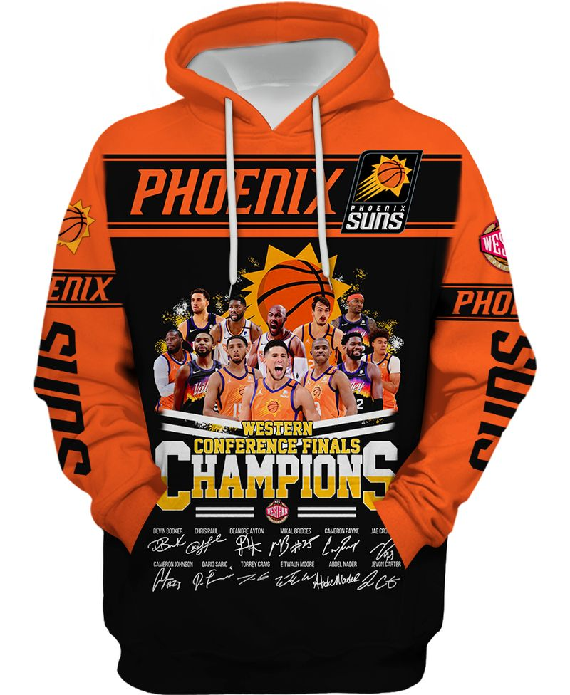 3 Phoenix Suns Western Conference Finals Champion 3d hoodie shirt 1