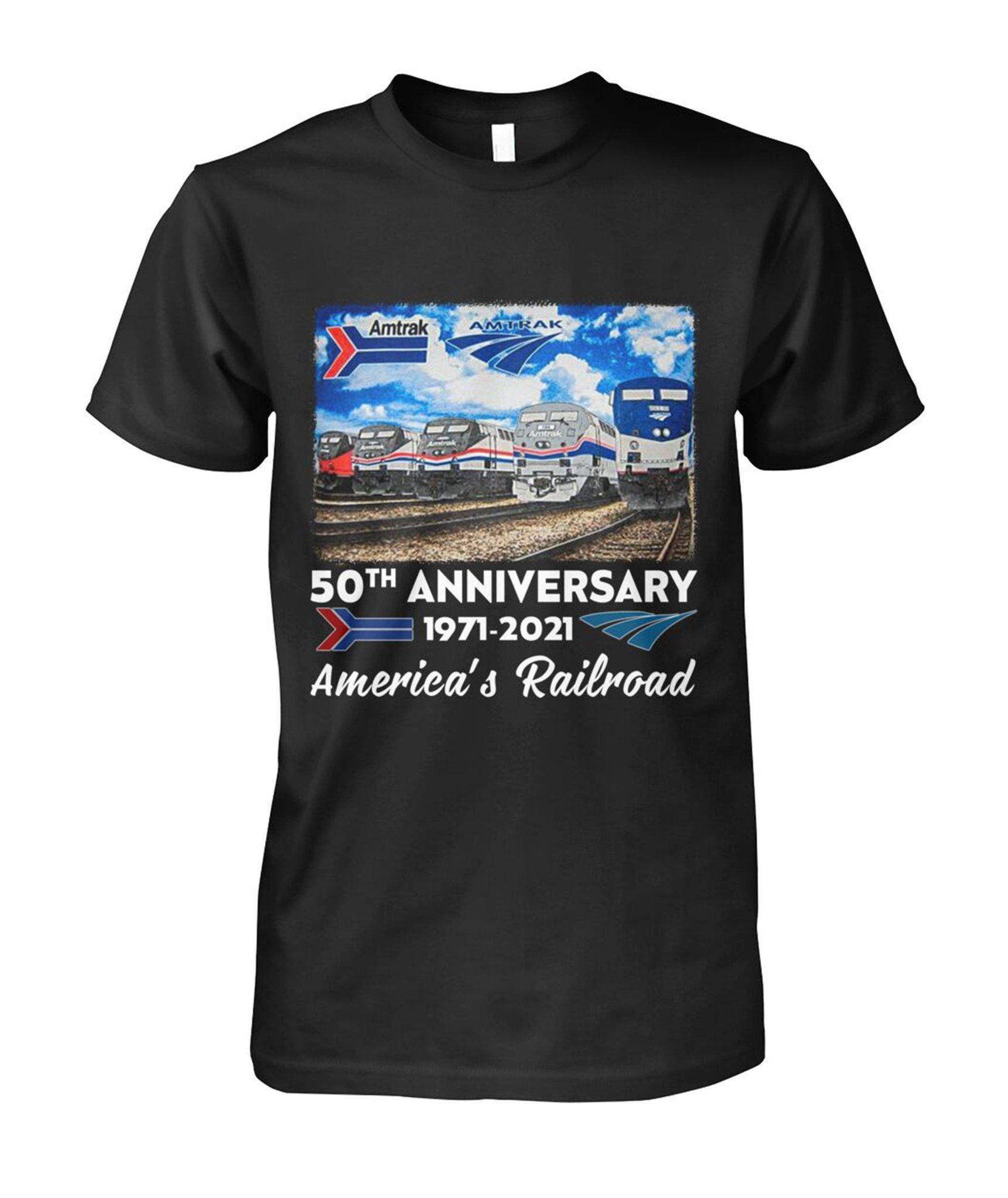 50th Anniversary 1971 2021 Americas Railroad Shirt1