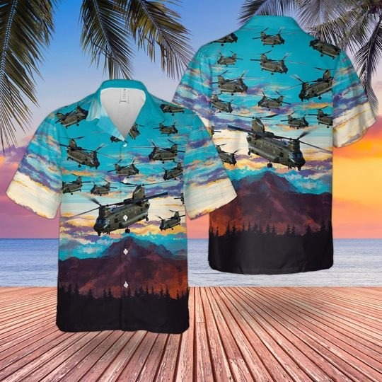 RAF boeing chinook HC.MK6 hawaiian shirt 1