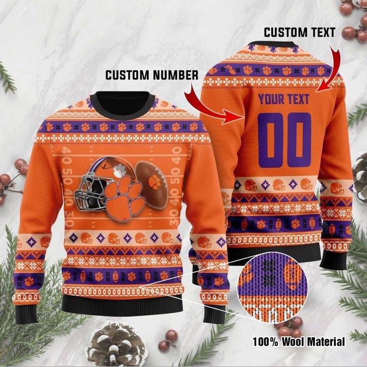 Clemson Tigers Custom Ugly Christmas Sweater 1