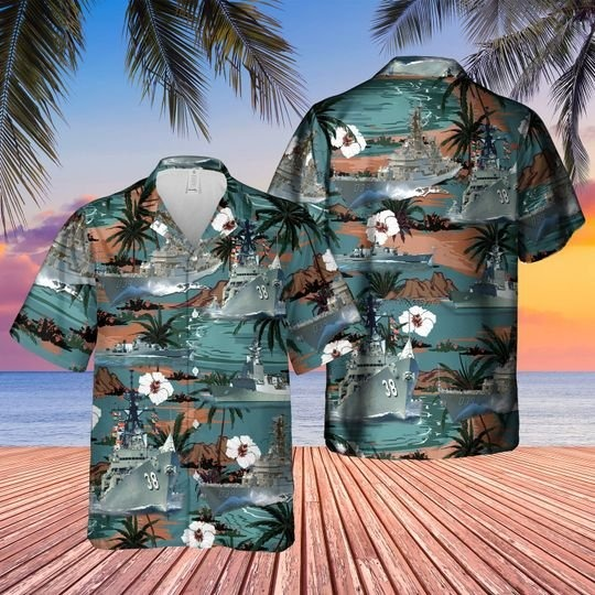 Vietnam era hma ships hawaiian shirt