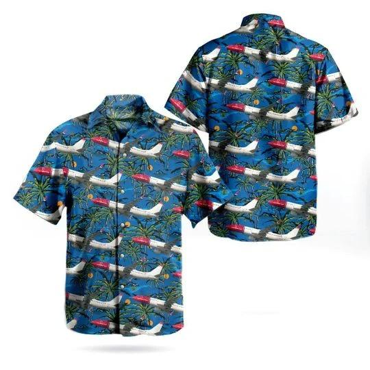 Norwegian boeing 737 81P hawaiian shirt 1