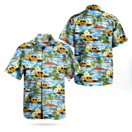 France la poste van hawaiian shirt 1