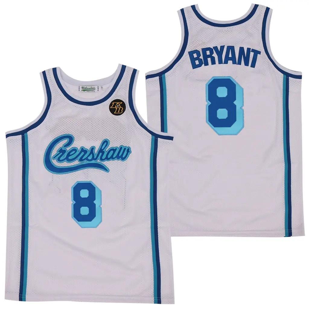 8 Crershaw Kobe Bryant Basketball Jersey 3