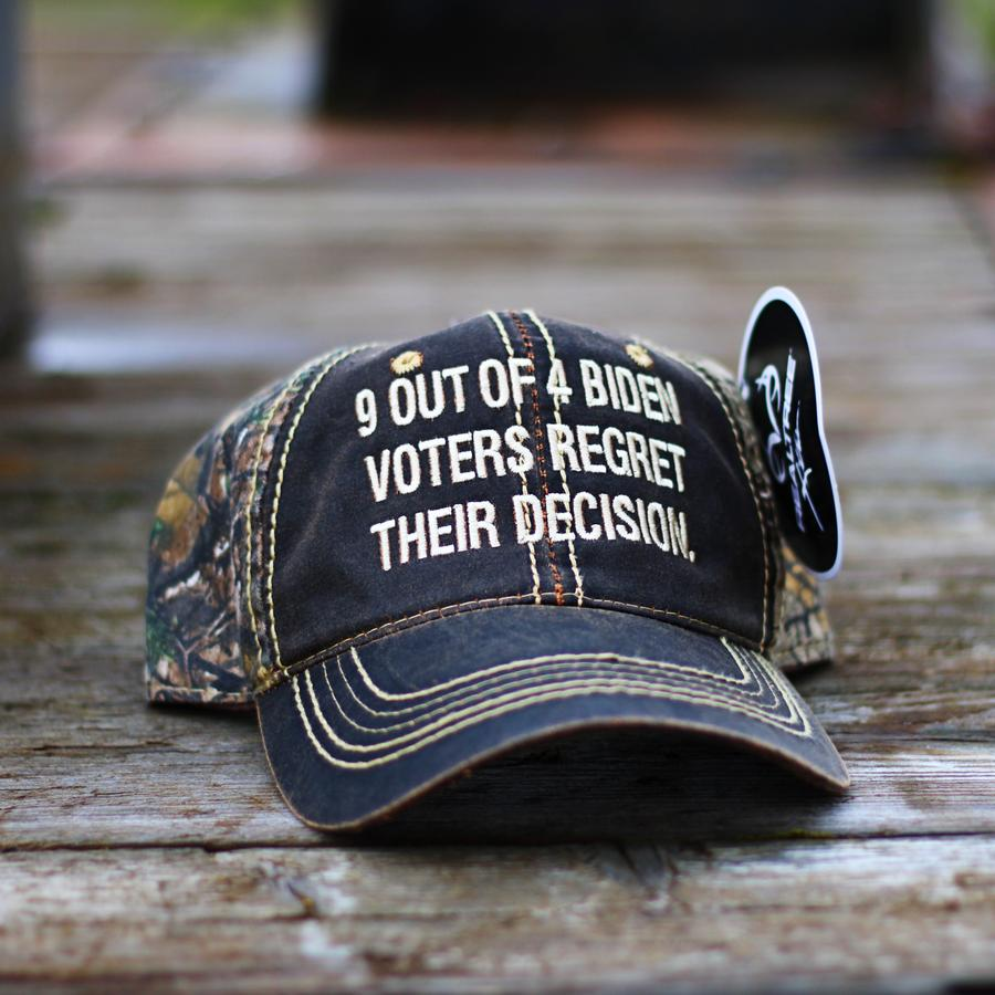 9 Out Of 4 Biden Voters Regret Their Decision Hat Cap