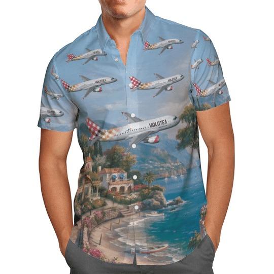Volotea airbus A320 200 hawaiian shirt 2