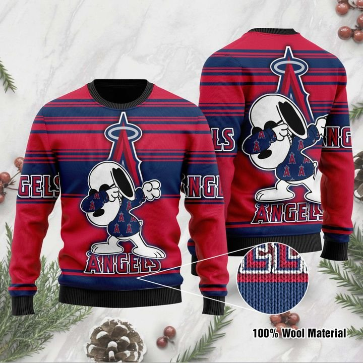 Snoopy Los Angeles Angels Ugly Christmas Sweater 1