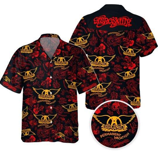 Aerosmith permanent vacation Hawaiian Shirt