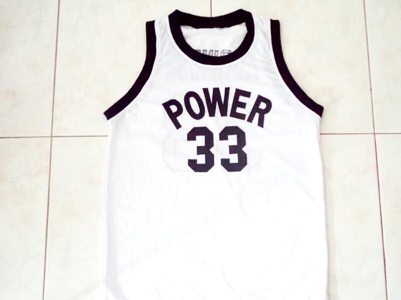 Alcindor 33 Power High School Abdul Jabbar Basketball Jersey White1